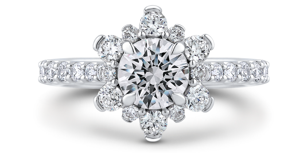 diamond halo engagement rings cleveland