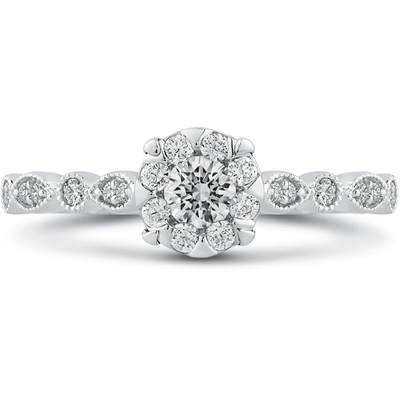 LUMINOUS Vintage Diamond Ring Engagement Ring BW James Jewelers