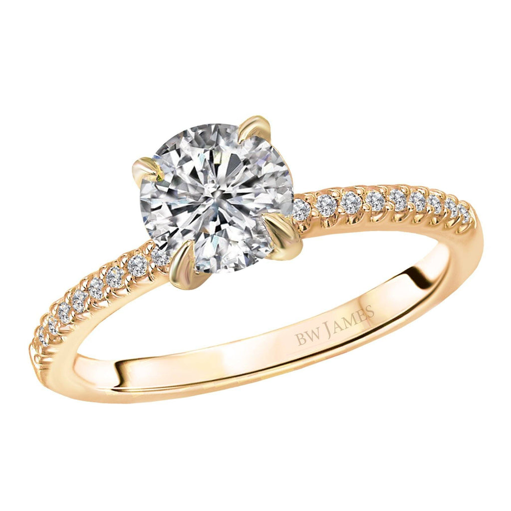 Classic Semi-Mount Diamond Ring Engagement Rings BW JAMES
