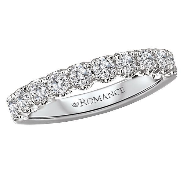 18kt White Gold Matching Diamond Wedding Band Wedding Band Romance