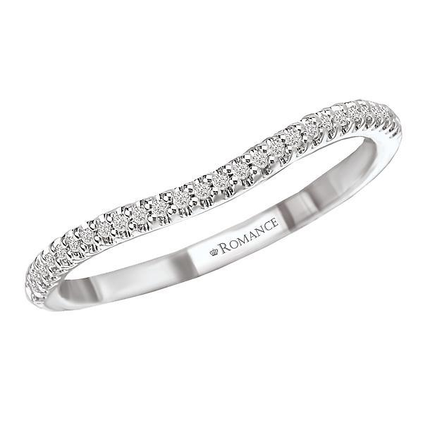 18kt White Gold Curved Diamond Wedding Band Wedding Band Romance