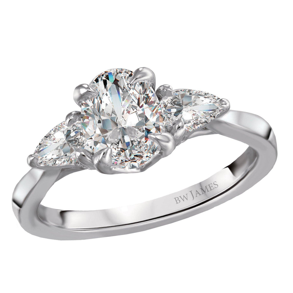 Three Stone Semi-Mount Diamond Ring BW James Jewelers