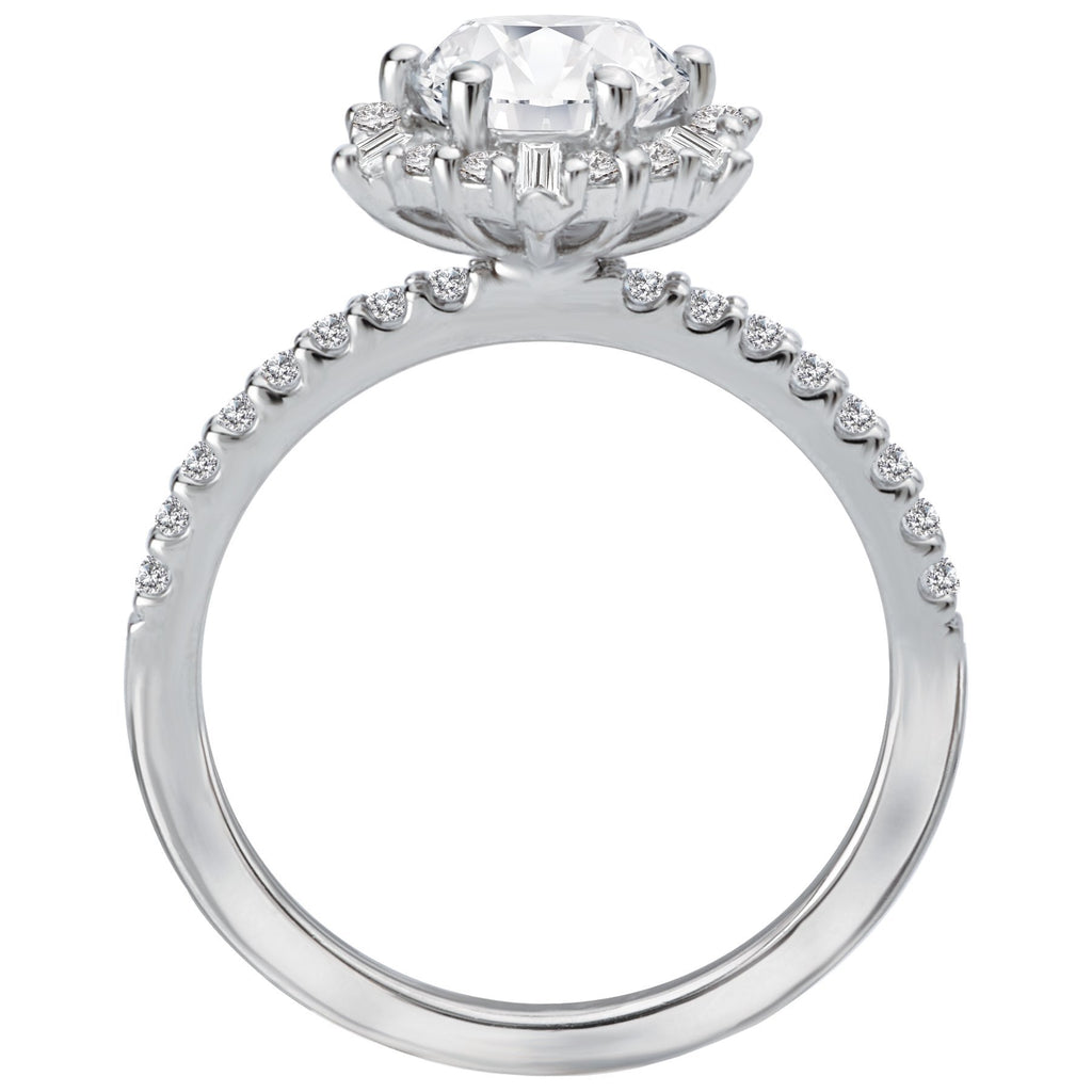 Halo Semi-Mount Diamond Ring BW James Jewelers
