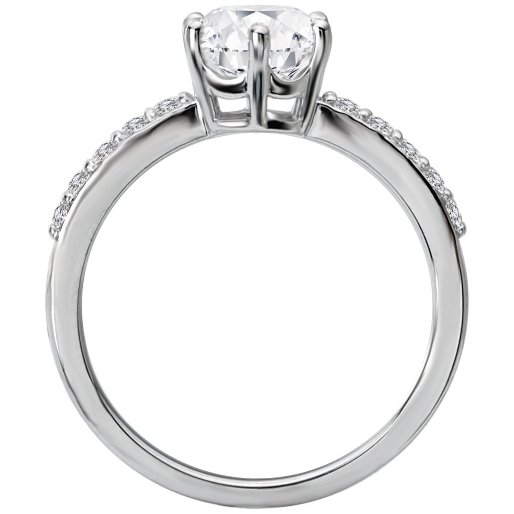 Classic Semi-Mount Diamond Ring BW James Jewelers