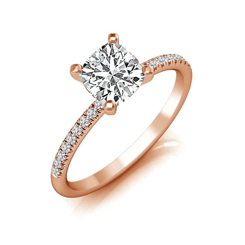 Willow Cushion Diamond Engagement Ring (Semi-Mount) Engagement Ring IDD