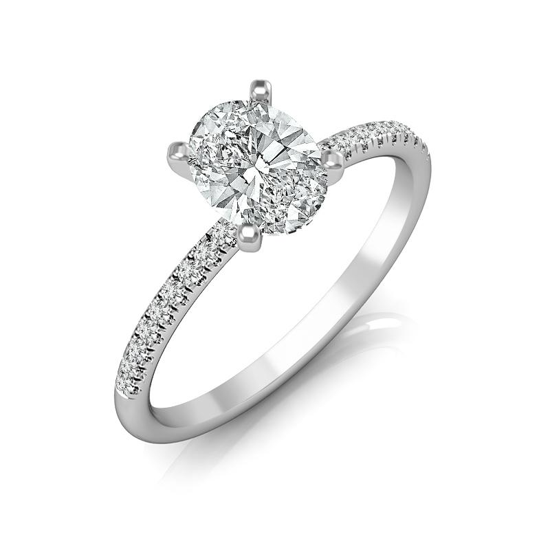 Willow Oval Diamond Engagement Ring (Semi-Mount) Engagement Ring IDD