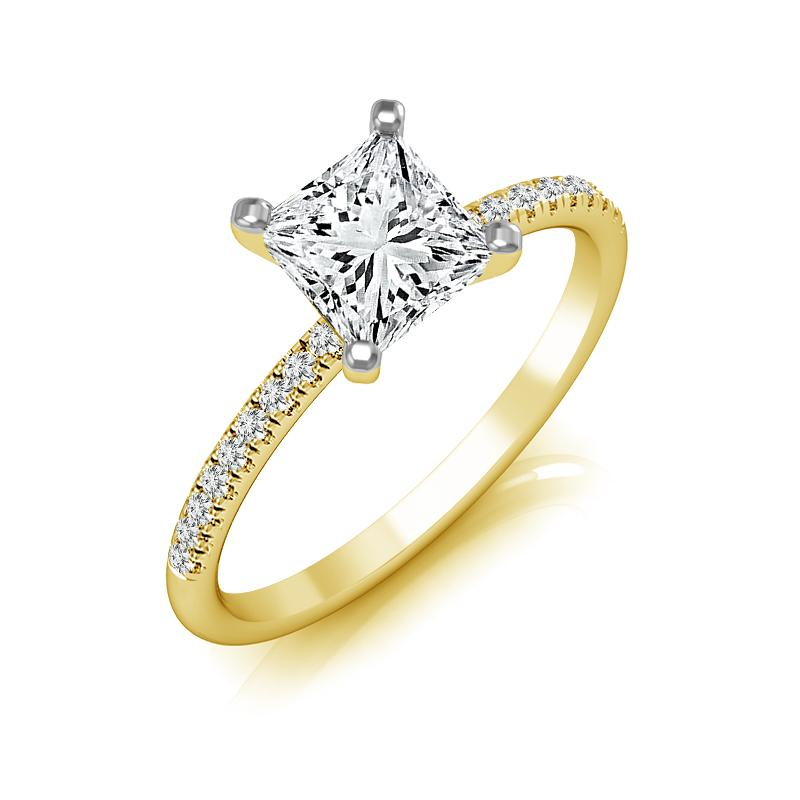 Willow Princess Diamond Engagement Ring (Semi-Mount) Engagement Ring IDD
