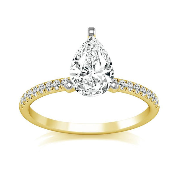 Willow Pear Diamond Engagement Ring (Semi-Mount) Engagement Ring IDD