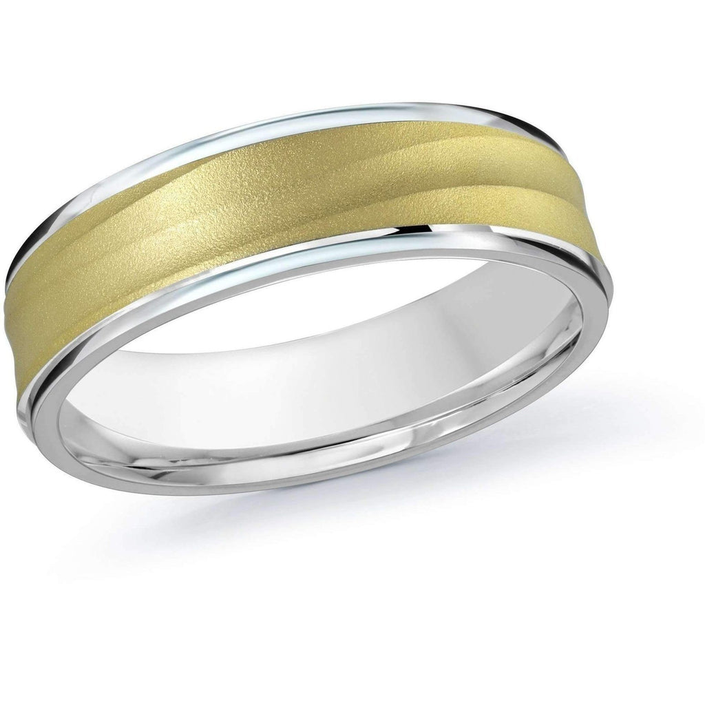 Two-Tone Gold Wedding Band Gold Wedding Bands Malo