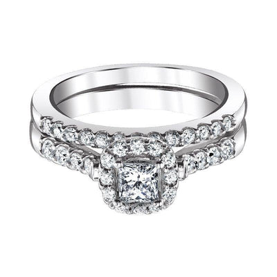 Love Story Princess Halo Diamond Bridal Set