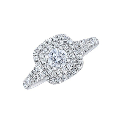 Image of Love Story Double Halo Diamond Engagement Ring