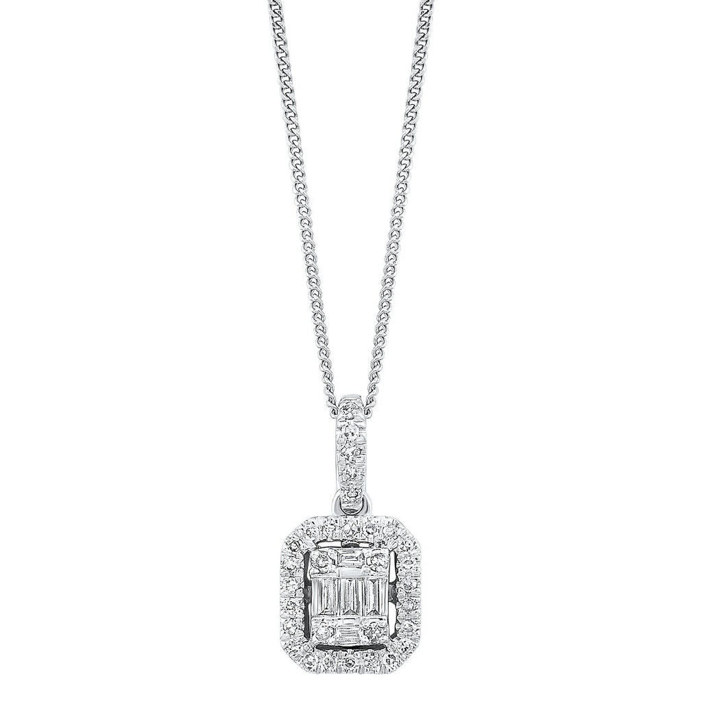 Diamond Cluster Pendant Necklace BW James Jewelers