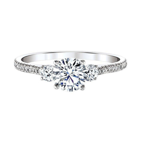 Image of Love Story  Classic Three Stone Plus  Diamond Engagement Ring
