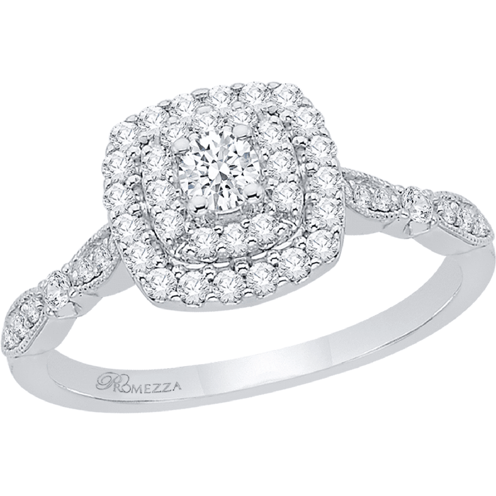 Promezza Diamond Halo Engagement Ring Engagement Ring BW James Jewelers