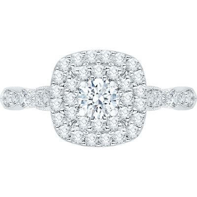 Promezza Diamond Halo Engagement Ring