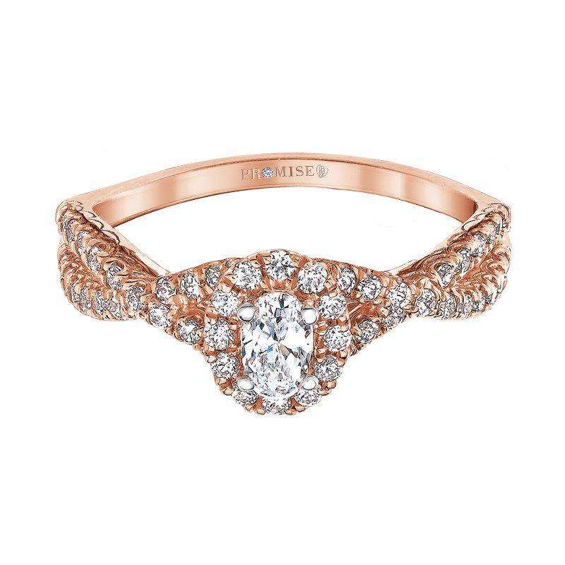 "Love Story ""Lexi"" Rose Gold Oval Halo Engagement Ring Engagement Ring Love Story"