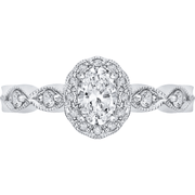 Promezza Vintage Halo Diamond Ring Engagement Ring BW James Jewelers