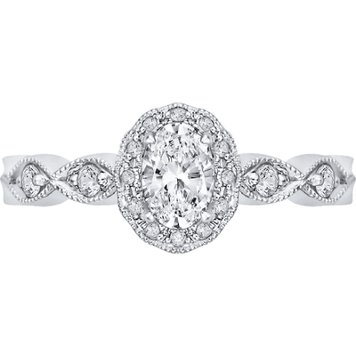 Promezza Vintage Halo Diamond Ring