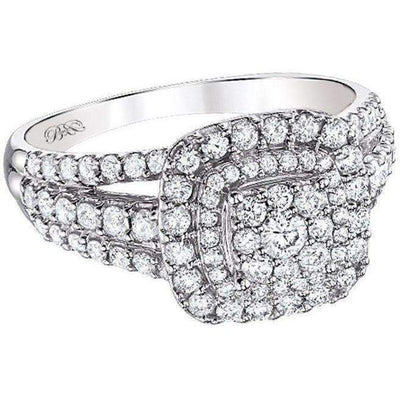 Beautiful Bride Collection Halo Diamond Ring