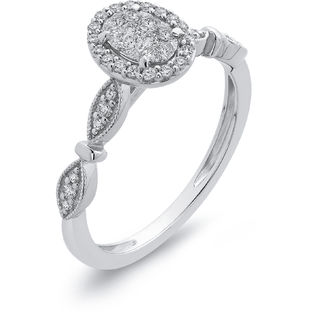 LUMINOUS Oval Halo Diamond Ring Engagement Ring BW James Jewelers