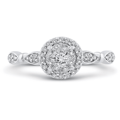 LUMINOUS Vintage Halo Diamond Ring