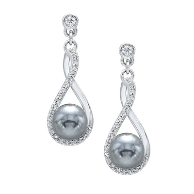 Silver and Pearl Earrings Earrings BW James Jewelers