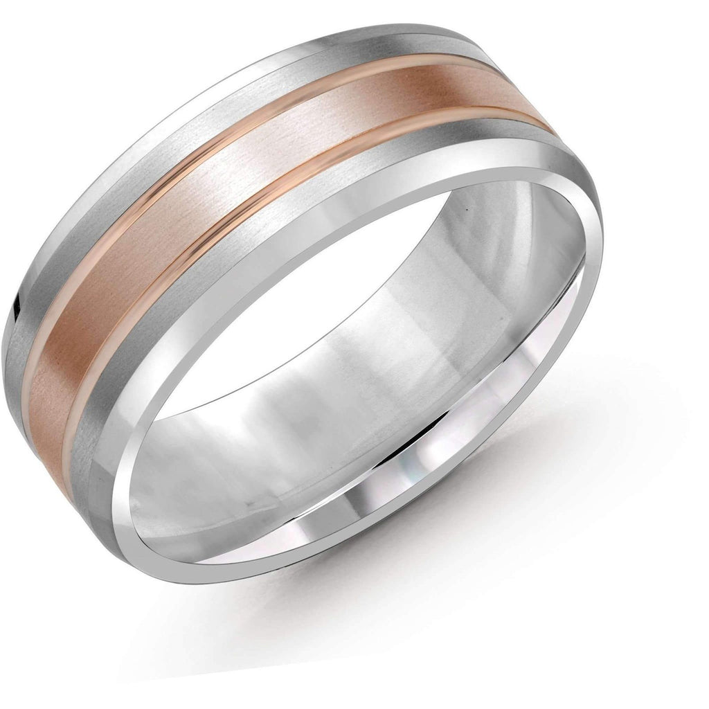 Two-Tone Wedding Band Gold Wedding Bands Malo
