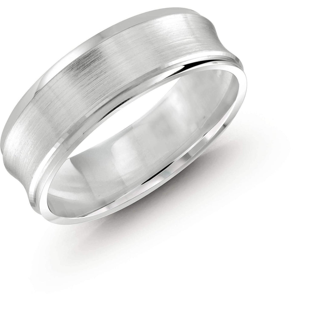 White Gold Wedding Band Gold Wedding Bands Malo