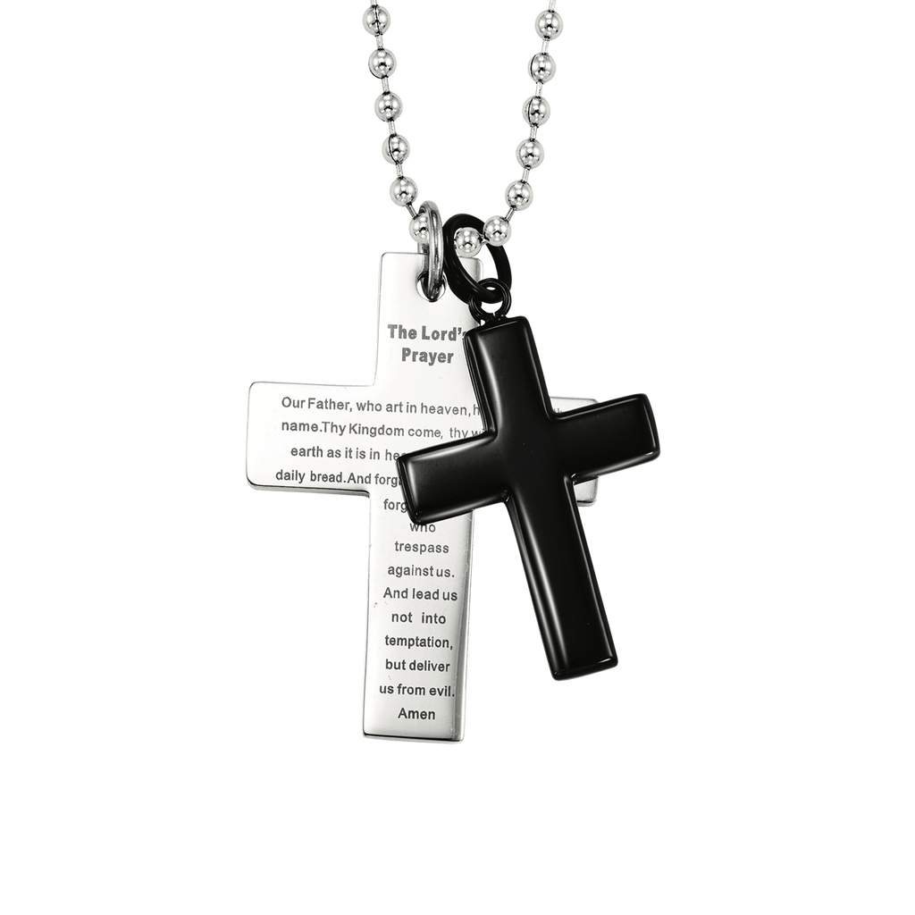 Steel Cross Fashion Pendant Pendant BW James Jewelers