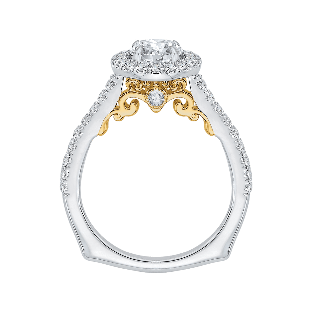 14K-Two-Tone-Gold-Round-Cut-Diamond-Halo-Engagement-Ring-(Semi-Mount)
