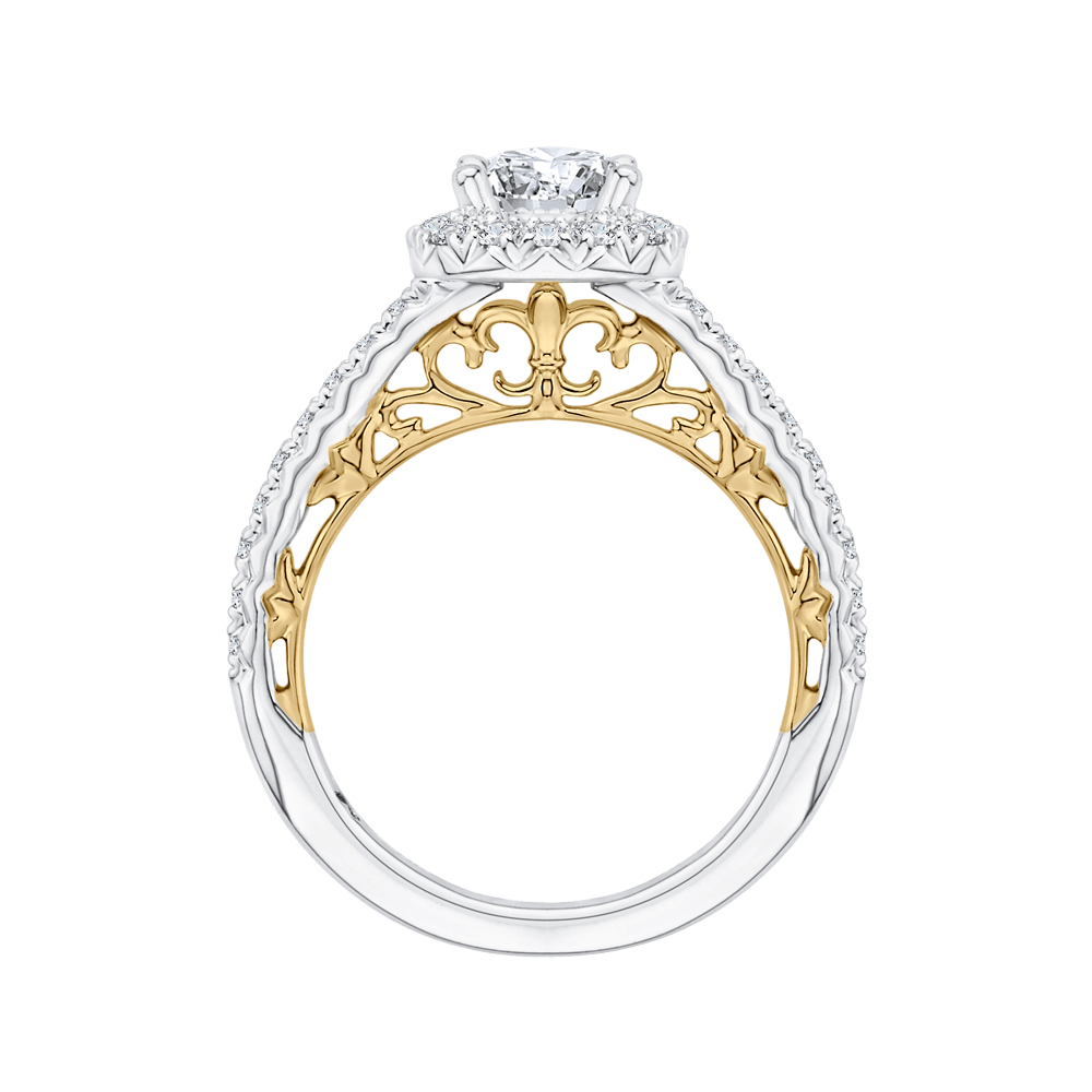 14K-Two-Tone-Gold-Round-Diamond-Halo-Engagement-Ring-(Semi-Mount)