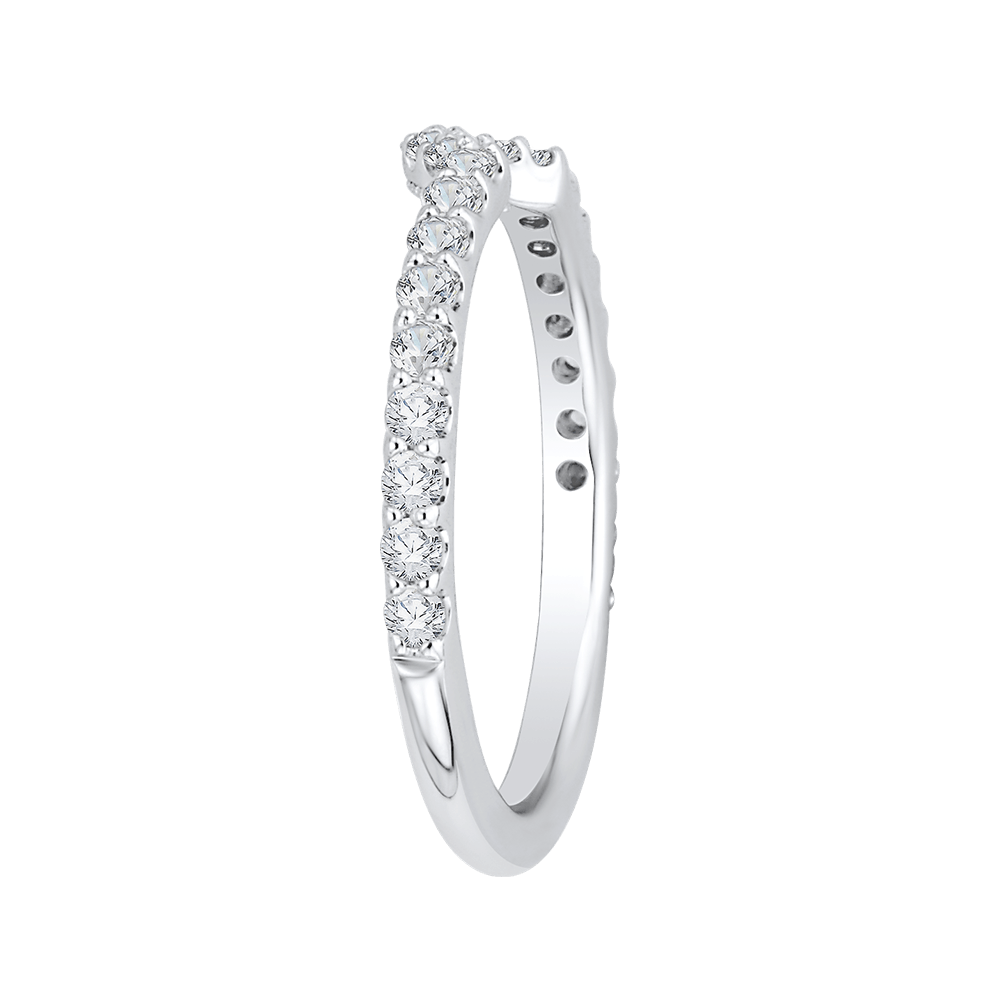 14K White Gold Diamond Wedding Band Wedding Band CARIZZA