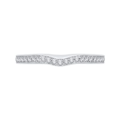 14K White Gold Half Eternity Diamond Wedding Band Wedding Band CARIZZA