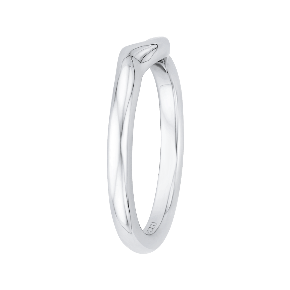14K White Gold Plain Wedding Band Wedding Band CARIZZA