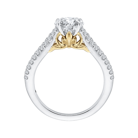 Image of 14K Two-Tone Gold and Diamond Semi-Mount