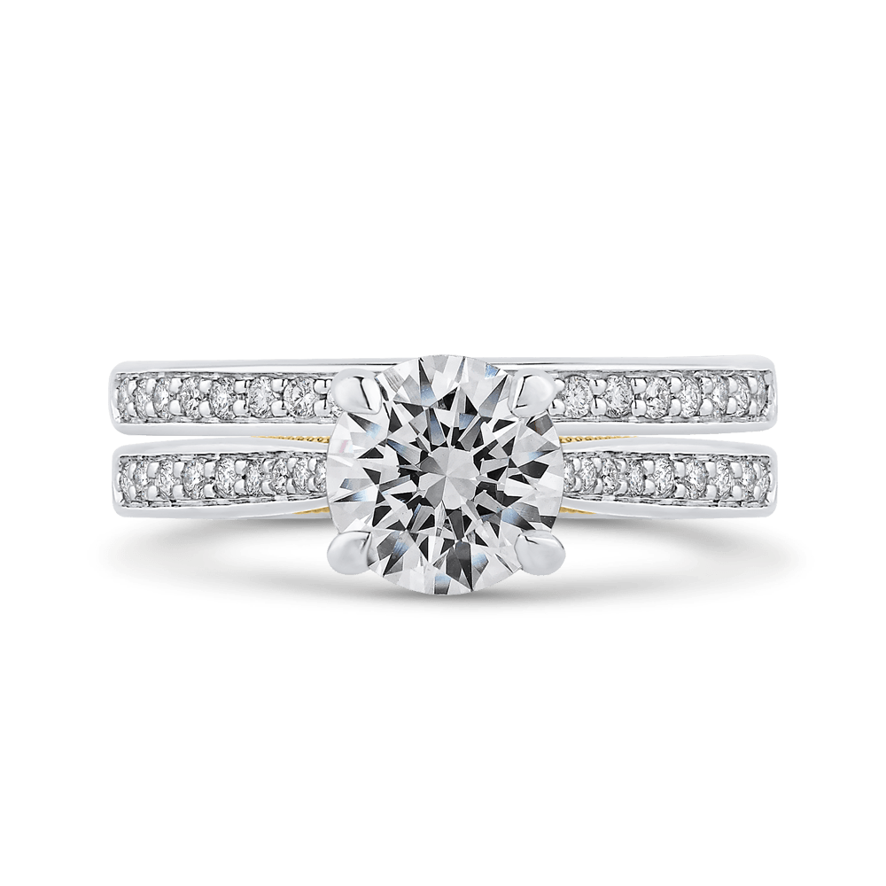 14K-Two-Tone-Gold-Round-Cut-Diamond-Engagement-Ring-(Semi-Mount)