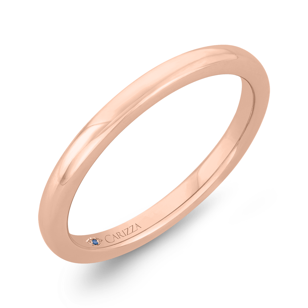 14K Rose Gold Plain Wedding Band Wedding Band CARIZZA