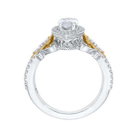 Image of 14K Two Tone Gold and Diamond Semi-Mount