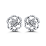 10K White Gold 1/3 Ct Diamond Fashion Earrings|***Complete Earrings