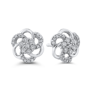 10K White Gold 1/3 Ct Diamond Fashion Earrings|***Complete Earrings Earrings LUMINOUS