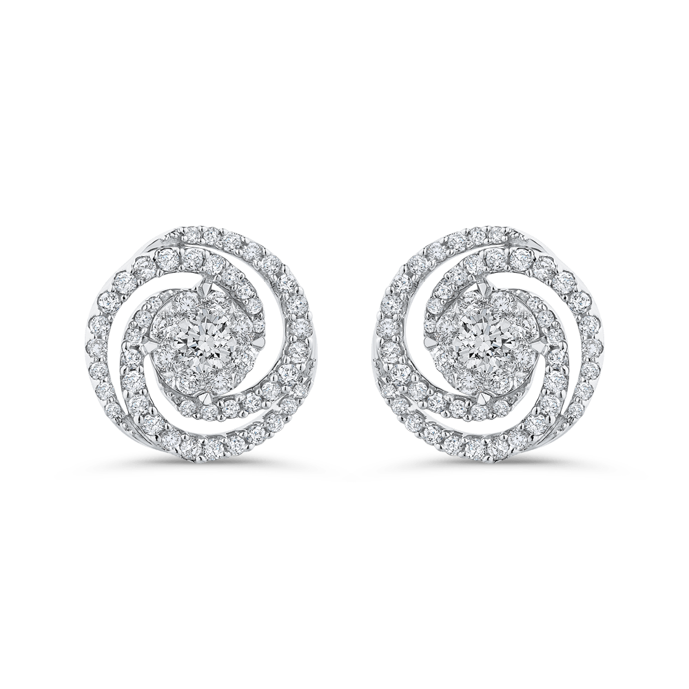 10K White Gold 3/4 Ct Diamond Fashion Earrings|***Complete Earrings Earrings LUMINOUS