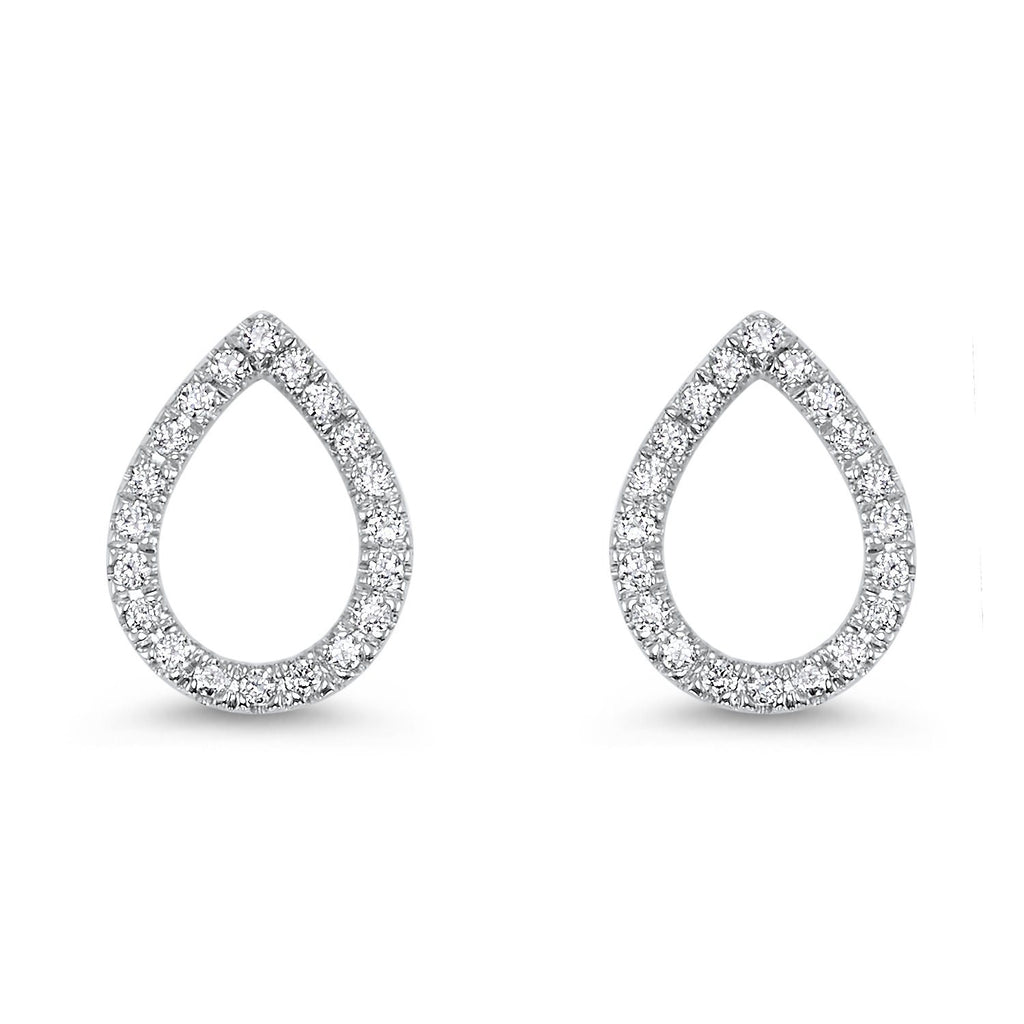 14K Pear Shape Diamond Earrings