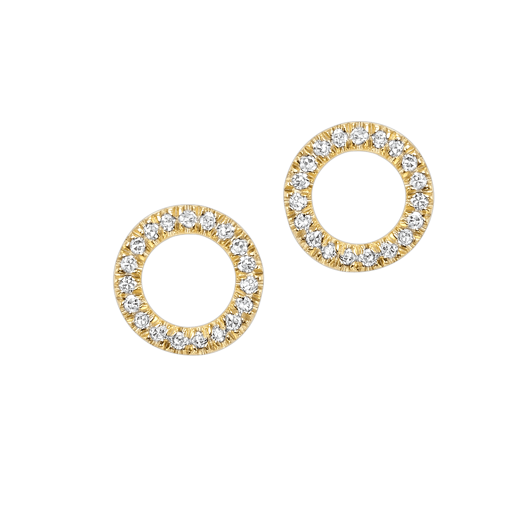 14KTY Diamond Dainty Delicacies Circle Flyer Earring 1/15 Ct Earrings BW James Jewelers