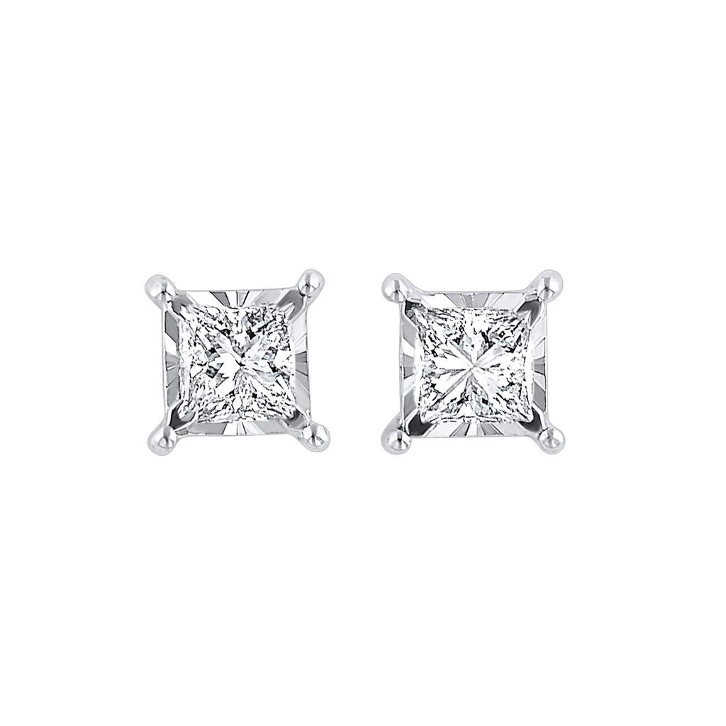 14KTW Diamond Tru Reflection Basics Studs 1/4 Ct BW James Jewelers