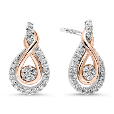 Gold & Silver Diamond Earrings Earrings BW James Jewelers
