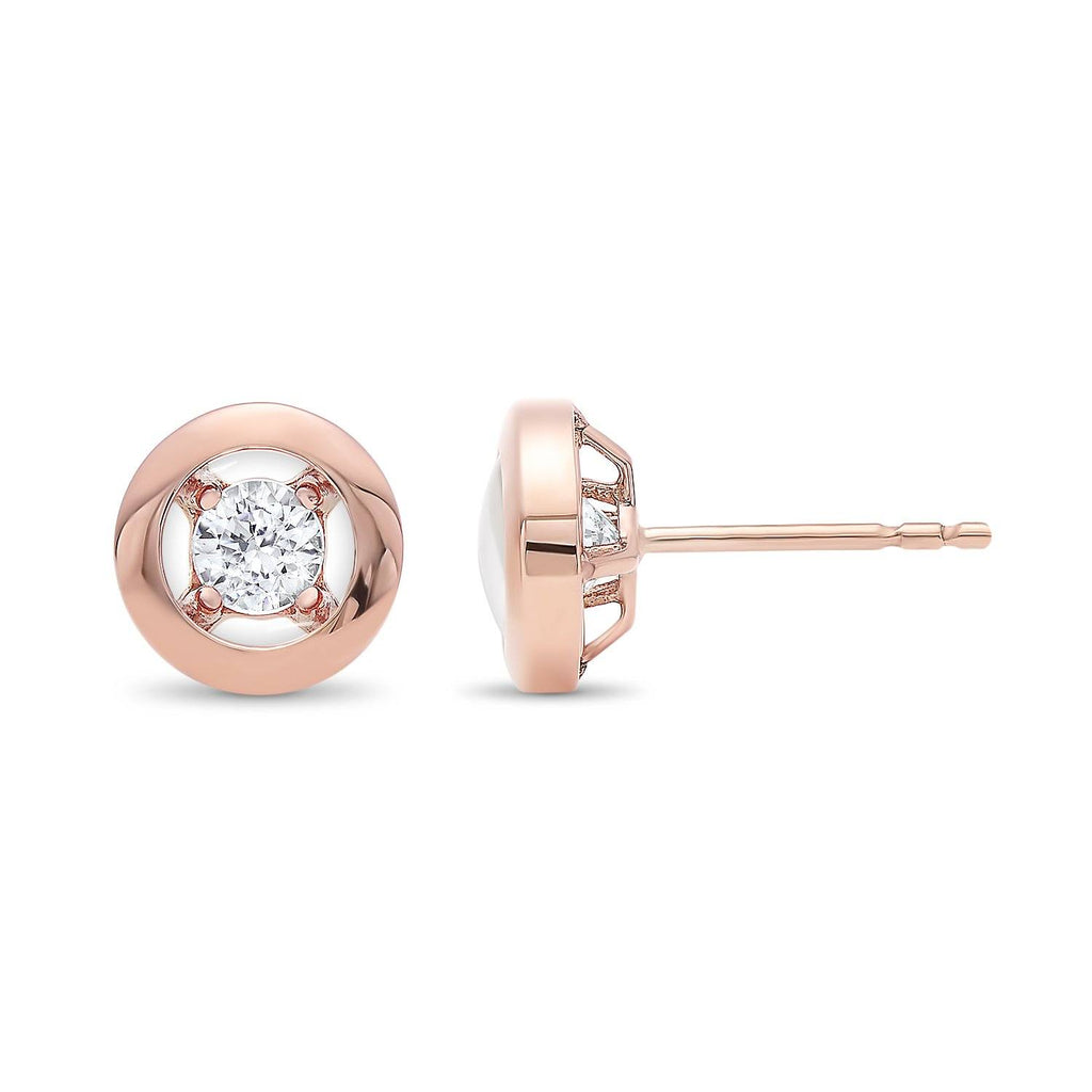 Rose Gold Diamond Earrings Earrings BW James Jewelers