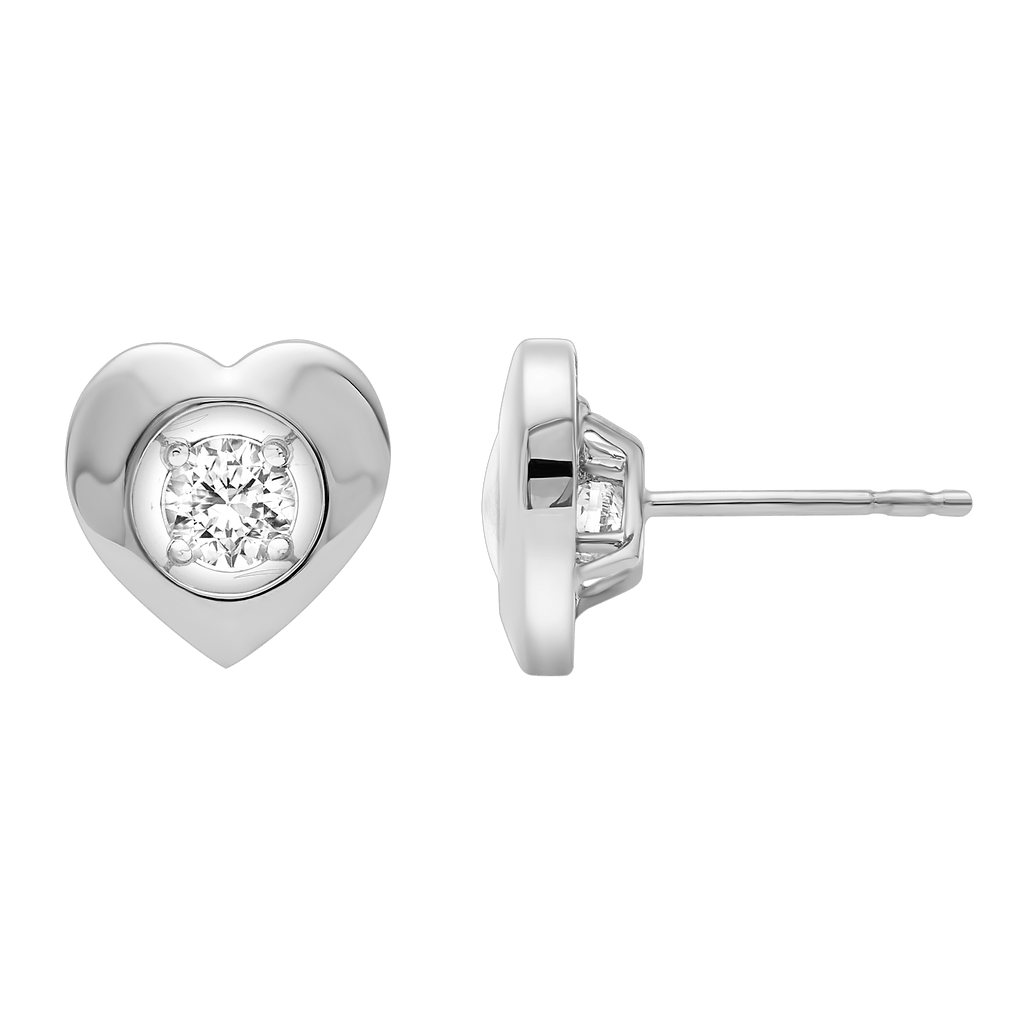 10KTW Magnifire Heart Flyer Earrings 1/7 Ctw Earrings BW James Jewelers