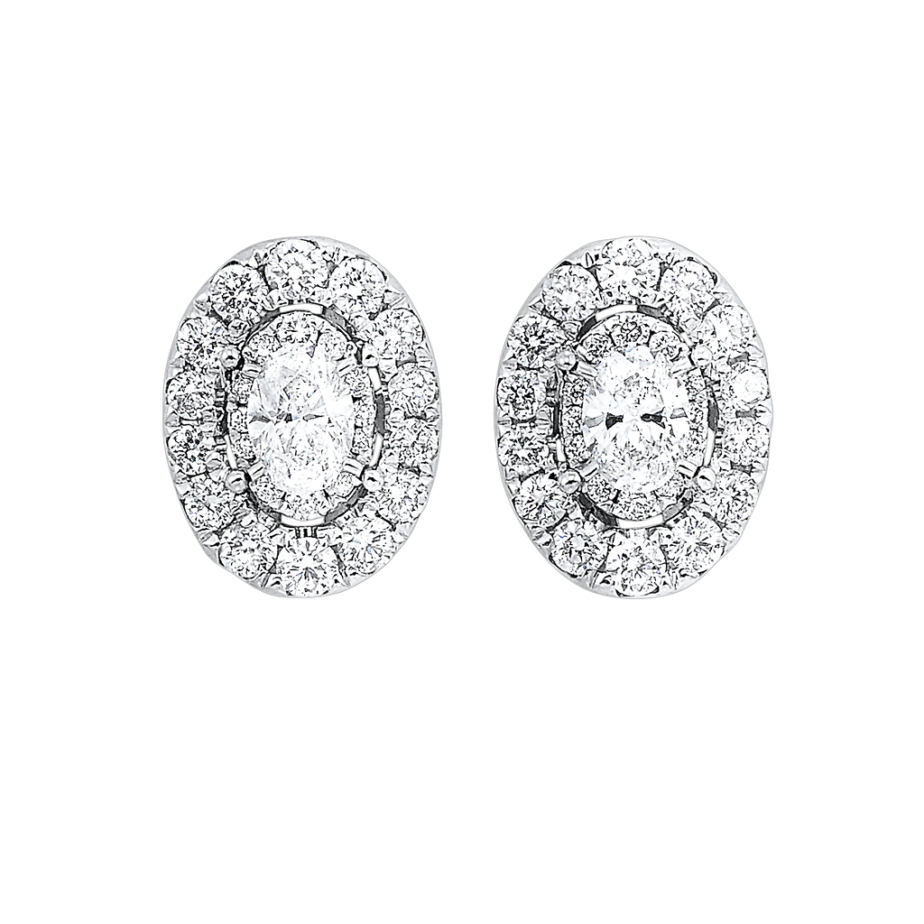 14KTW Oval Earrings 1 Ctw Earrings BW James Jewelers