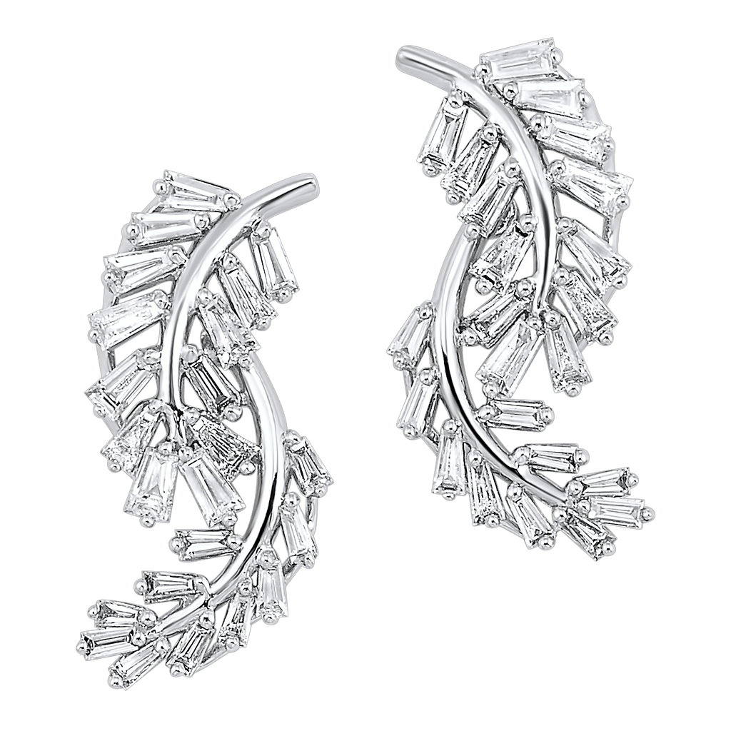 14KTW Flyer Earrings 1 Ctw Earrings BW James Jewelers