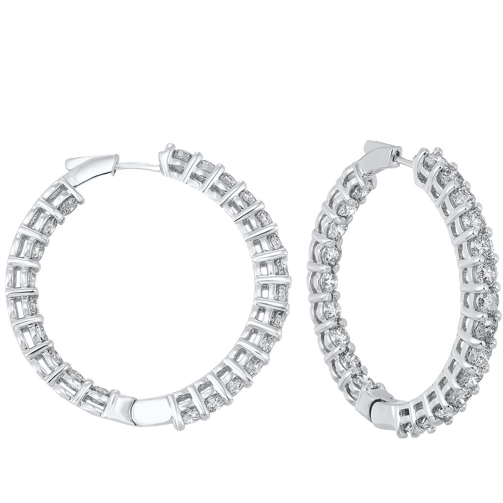 14K Round In-Out Earring 10ctw Earrings BW James Jewelers